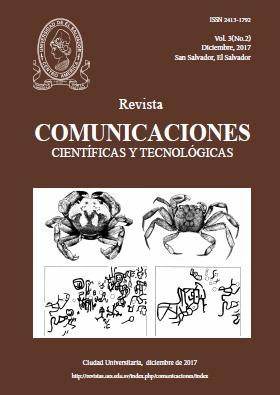 Revista Comunicaciones Científicas y Tecnologicas, Vol. 3, No, 2, diciembre, 2017